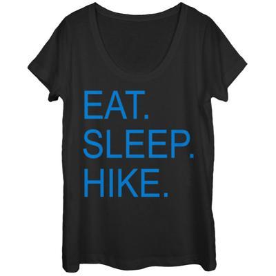 Womens: Eat Sleep Hike Scoop Neck