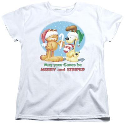 Womens: Garfield- Merry And Striped