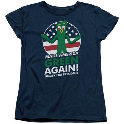 Womens: Gumby- For President, Make America Green Again