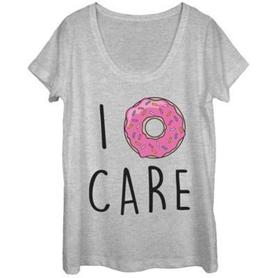 Womens: I Donut Care Scoop Neck