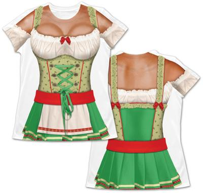 Womens Oktoberfest Costume Tee (Front/Back)