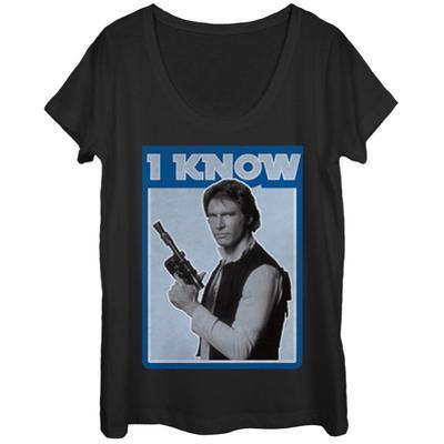 Womens: Star Wars- Han Knows Scoop Neck