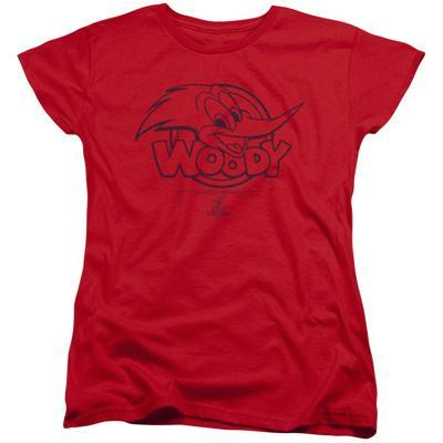 Womens: Woody Woodpecker- Big Head