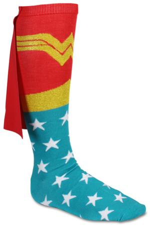 Wonder Woman Cape Knee High Socks
