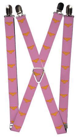 Wonder Woman Logo Pink Suspenders