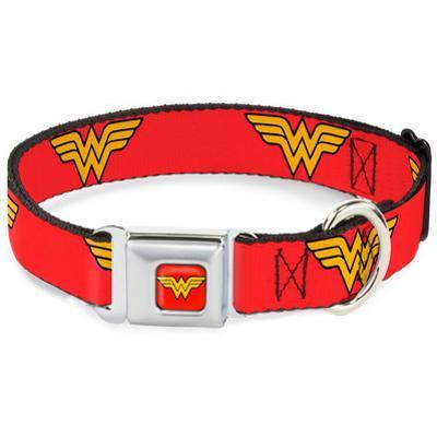 Wonder Woman - Logo Red Dog Collar