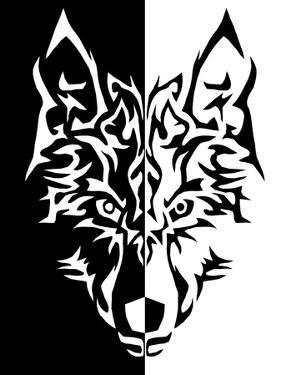 Black White Wolf Animal Wolves by Wonderful Dream