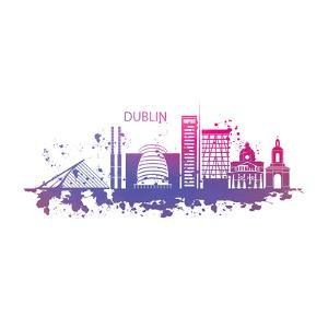 Dublin Ireland Skyline by Wonderful Dream