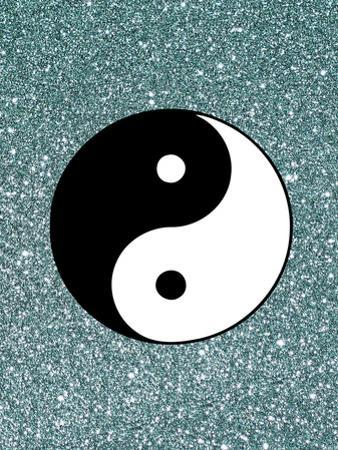 Glitter Shiny With Ying And Yang
