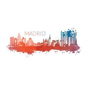 Madrid Spain Skyline by Wonderful Dream