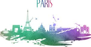 Paris France Skyline by Wonderful Dream