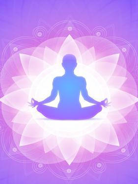 Purple Yoga Faith Meditation by Wonderful Dream