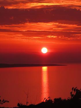 Red Sunset Sunrise Holiday by Wonderful Dream