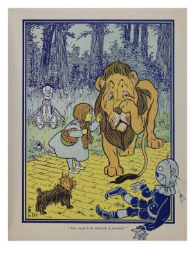 """""""Wonderful Wizard of Oz"""" Main Characters, Dorothy Speaks to the Cowardly Lion"""