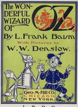 """Wonderful Wizard of Oz,"" Title Page of First Edition Written by Frank Lyman Baum in 1900"