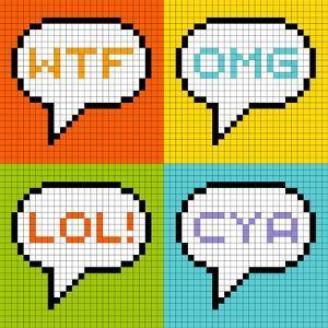 8-Bit Pixel 3-Letter Acronyms in Speech Bubbles by wongstock