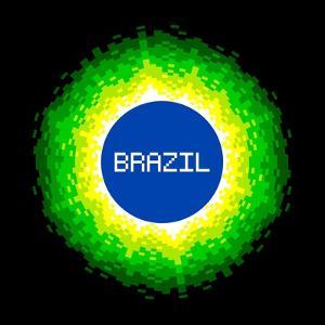 8-Bit Pixel-Art Brazil World Concept by wongstock