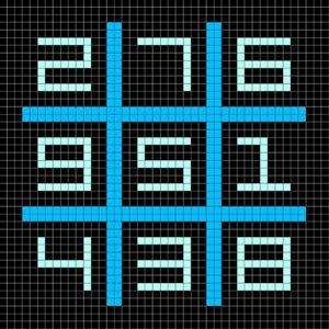 8-Bit Pixel Art Magic Square with Numbers 1-9 by wongstock
