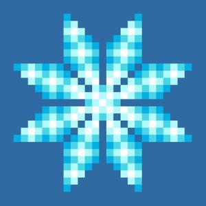 8-Bit Pixel Crystalline Snowflake by wongstock
