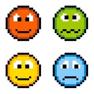 8-Bit Pixel Emotion Icons by wongstock