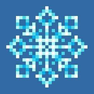8-Bit Pixel Snowflake by wongstock