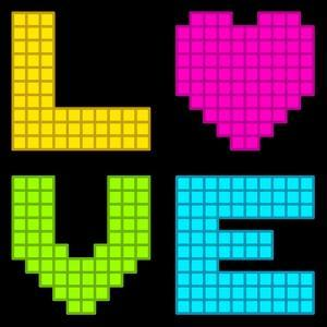 8-Bit Retro Pixel Love Heart by wongstock