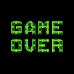 Game Over On A Green Grid Digital Display by wongstock