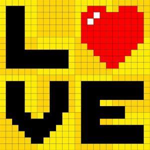Pixel Love Heart by wongstock