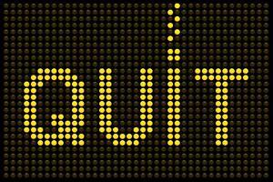 Quit Smoking Message On A Led Screen by wongstock
