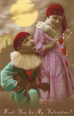 Wont You Be My Valentine? Child Clowns
