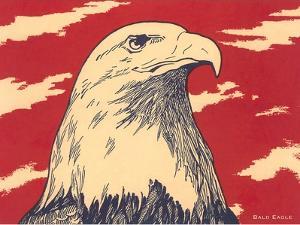 Woodcut of Bald Eagle
