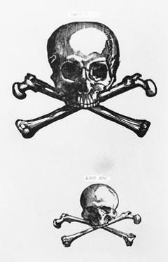 Woodcut of Skull and Crossbones