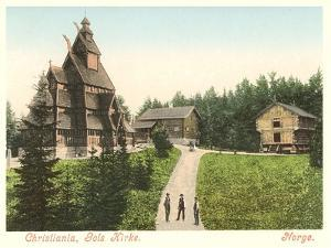 Wooden Church in Christiana (Oslo), Norway