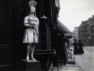 Wooden Native American Store Statue