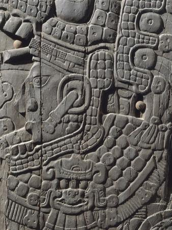 Wooden Panel Depicting Figure of Governor, from Temple Iv at Tikal, Guatemala