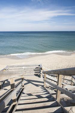 Wooden Steps at Nauset Light Beach in Cape Cod, Boston, Usa