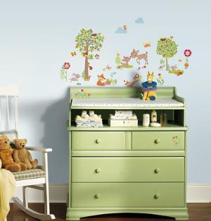 Woodland Creatures Peel and Stick Wall Decals