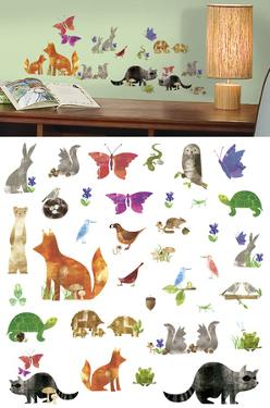 Woodland Friends Peel and Stick Wall Decals