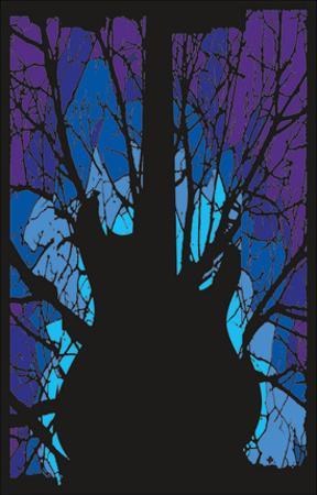 Woods Guitar Blacklight Poster