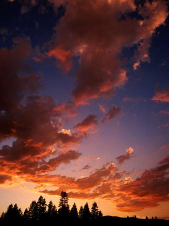 Clouds in Sky at Sunset, Truckee, USA