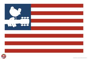Woodstock- Love Dove Logo American Flag