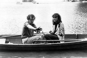 Woody Allen and Diane Keaton MANHATTAN, 1979 directed by Woody Allen (b/w photo)