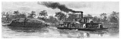 Wool Barge on the River Darling, Australia, 1886