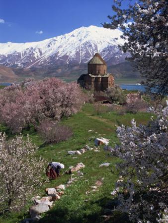 Armenian Church of the Holy Cross, on Akdamar Island, Beside Lake Van, Anatolia, Turkey by Woolfitt Adam