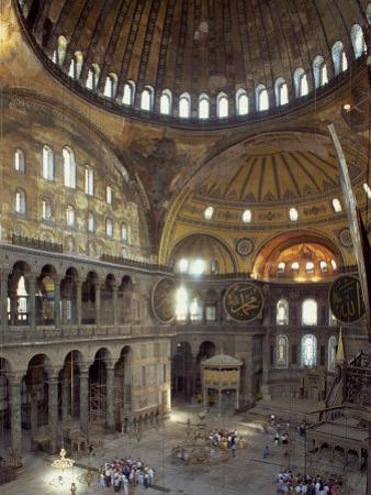 Interior of the Santa Sofia Mosque, Originally a Byzantine Church, Istanbul, Turkey