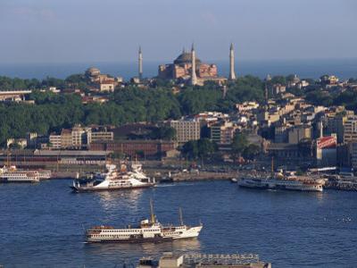 Istanbul Skyline Including the Aghia Sophia Basilica, Istanbul, Turkey, Europe