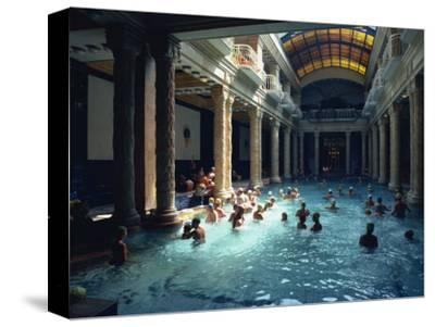 People Bathing in the Hotel Gellert Baths, Budapest, Hungary, Europe