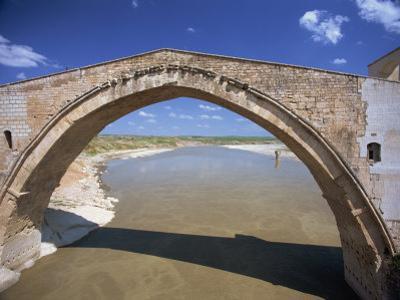 Single Arch of the Malabadi Bridge across the Batman River, Kurdistan Area of Anatolia, Turkey