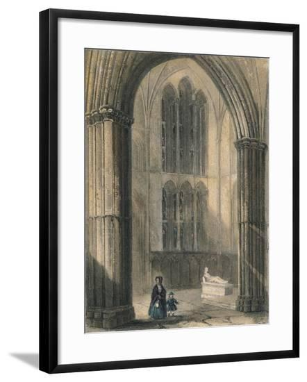 Worcester Cathedral: North Transept of Choir, 1836-Henry Winkles-Framed Giclee Print