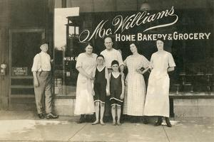Workers at Mcwilliams Bakery and Grocery